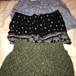 3 old navy lose linen short bundle